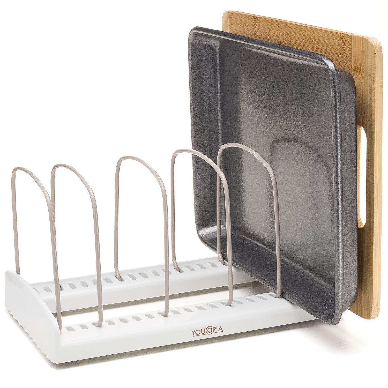 YouCopia StoreMore Adjustable Bakeware Rack Pan Organizer (Renewed)
