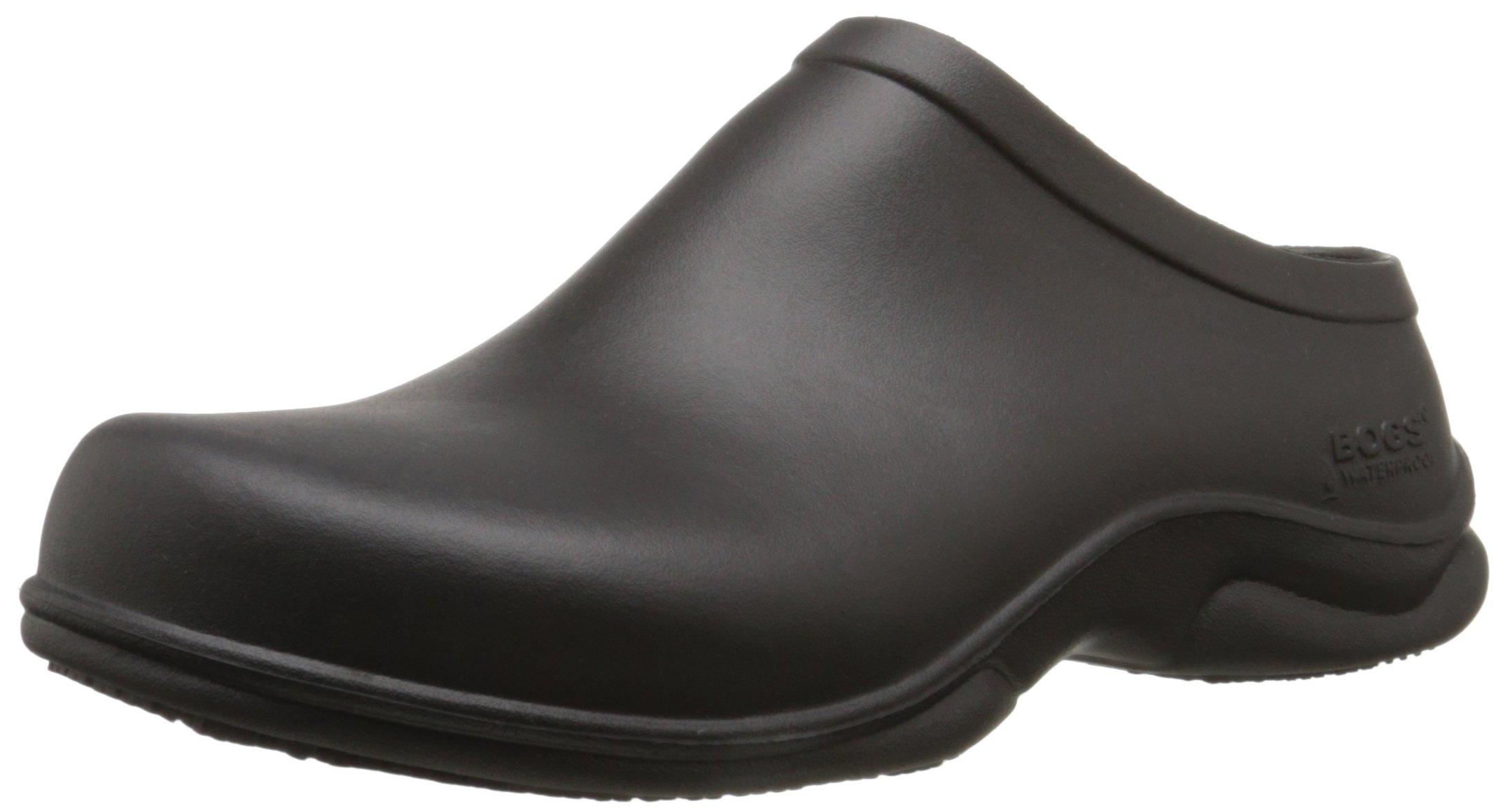 Bogs Men's Stewart Slip Resistant Work Shoe, Black, 10 M US by BOGS