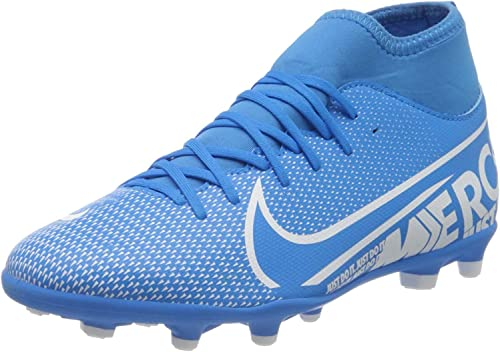Cuota Separar Desbordamiento  Amazon.com: Jr. Mercurial Superfly 7 Club MG Youth Soccer Cleats-  Blue/White: Shoes
