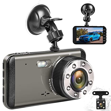 Amazon Com Effort Dual Dash Cam Front And Rear H3 Fhd 1080p Night