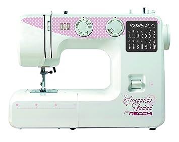 Necchi ZAKKA120 - Máquina de coser (Rosa, Blanco, Máquina de coser semiautomática, Costura, 4 mm, Giratorio, Eléctrico): Amazon.es: Hogar