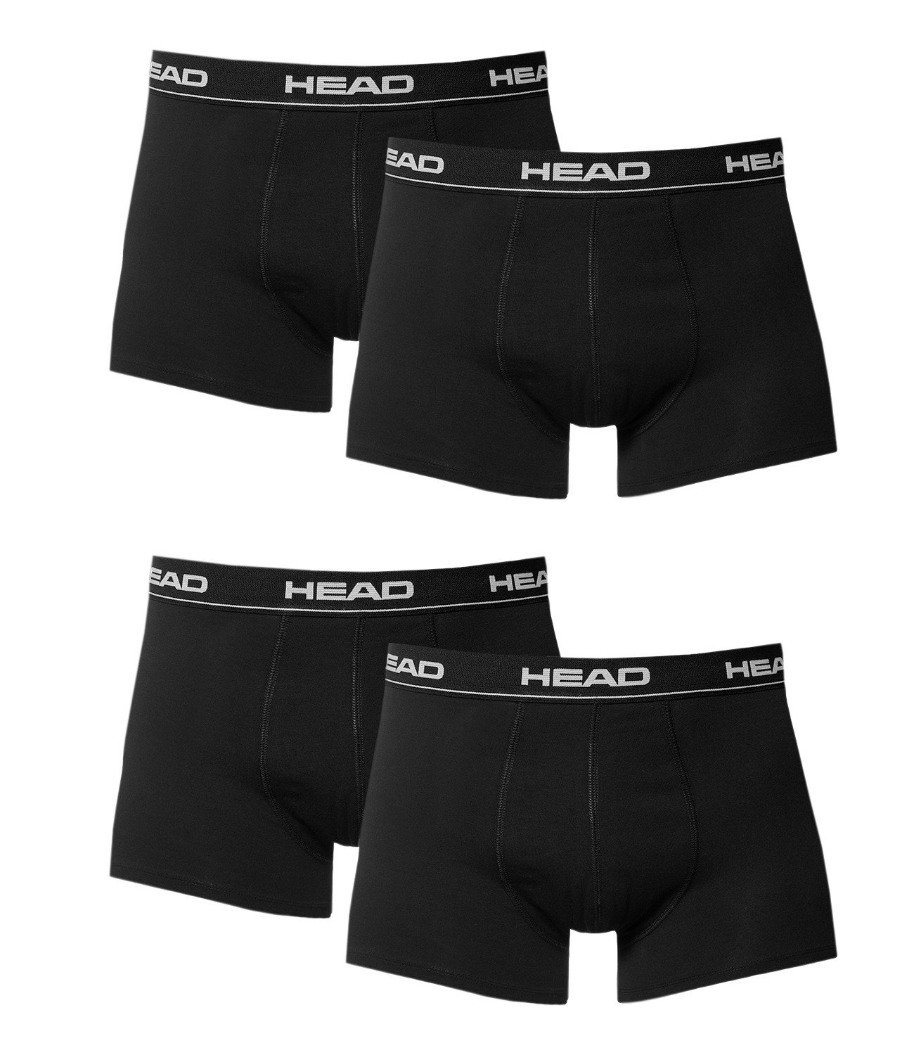 Head 4 x Pack Mens Boxer Shorts with Elastic Waistband ...