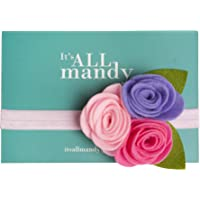 It'sALLmandy Baby Headband with Cute Pink and Purple Felt Flowers - Perfect Accessory for Baby Girl