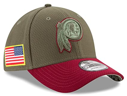 eadfc7c28 Washington Redskins New Era NFL 39THIRTY 2017 Sideline  quot Salute to  Service quot  Hat S