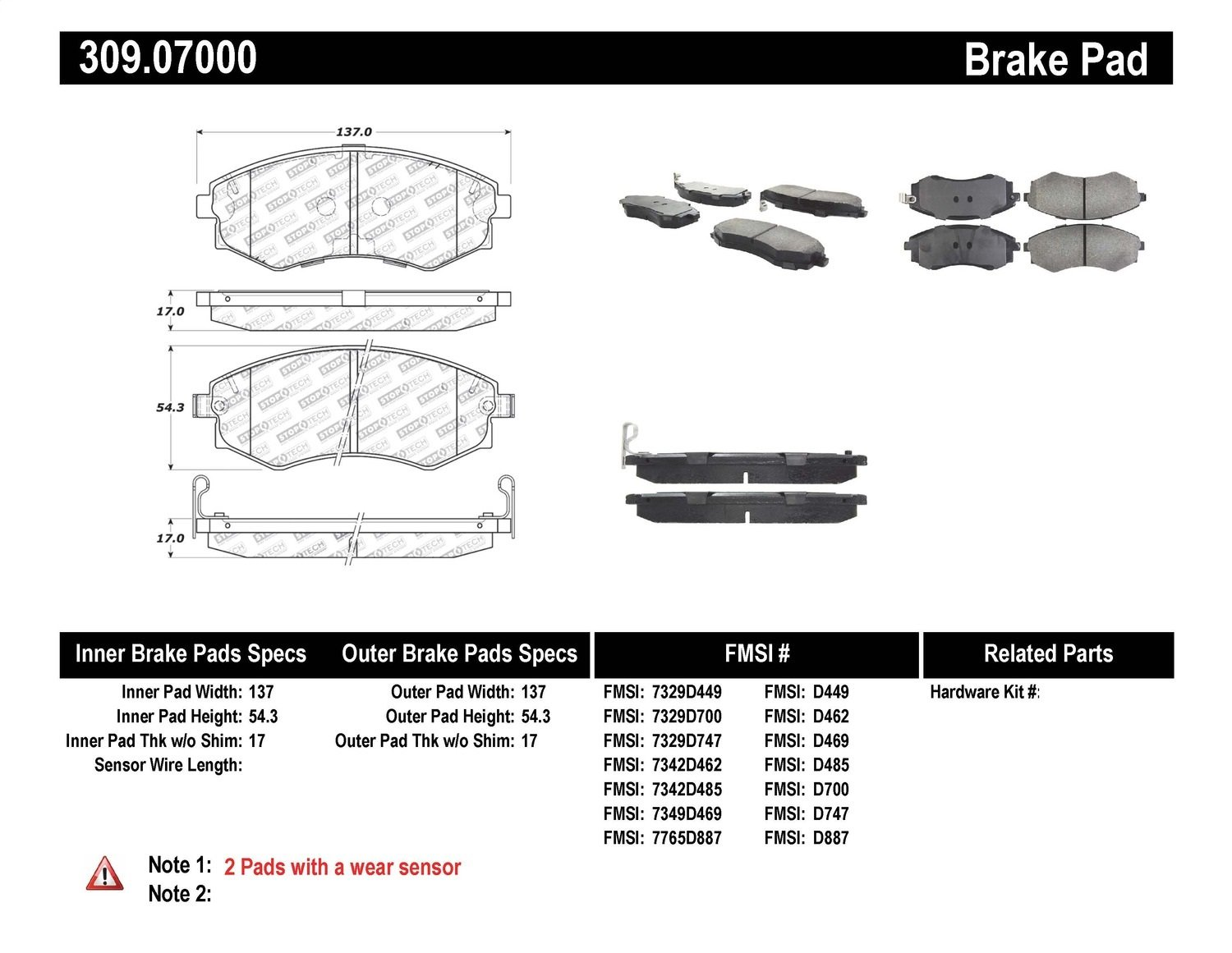 StopTech 127.33040CL Brake Rotor