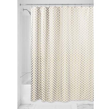 InterDesign Diamond rideau de douche tissu, rideau douche textile en ...
