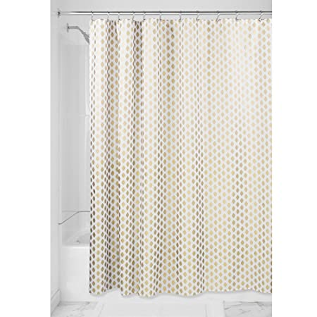 InterDesign Diamond Shower Curtain For The Bathroom Fabric Curtains Made Of Polyester