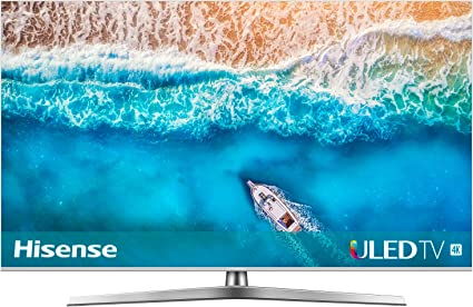 Hisense H55U7B 138 cm (55 Zoll) Fernseher (4K Ultra HD, HDR, Dolby Vision, Triple Tuner, Smart-TV, USB-Aufnahmefunktion) [Modelljahr 2019] [Energieklasse A+]