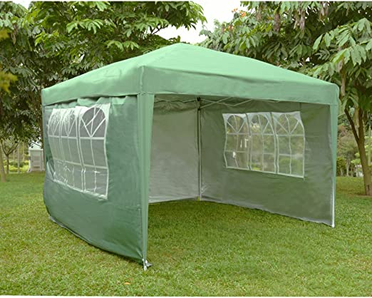 Yulie - Carpa de jardín Plegable Impermeable con Bolsa de Transporte (3 x 3 m), Color Verde, tamaño 3 * 3m: Amazon.es: Jardín