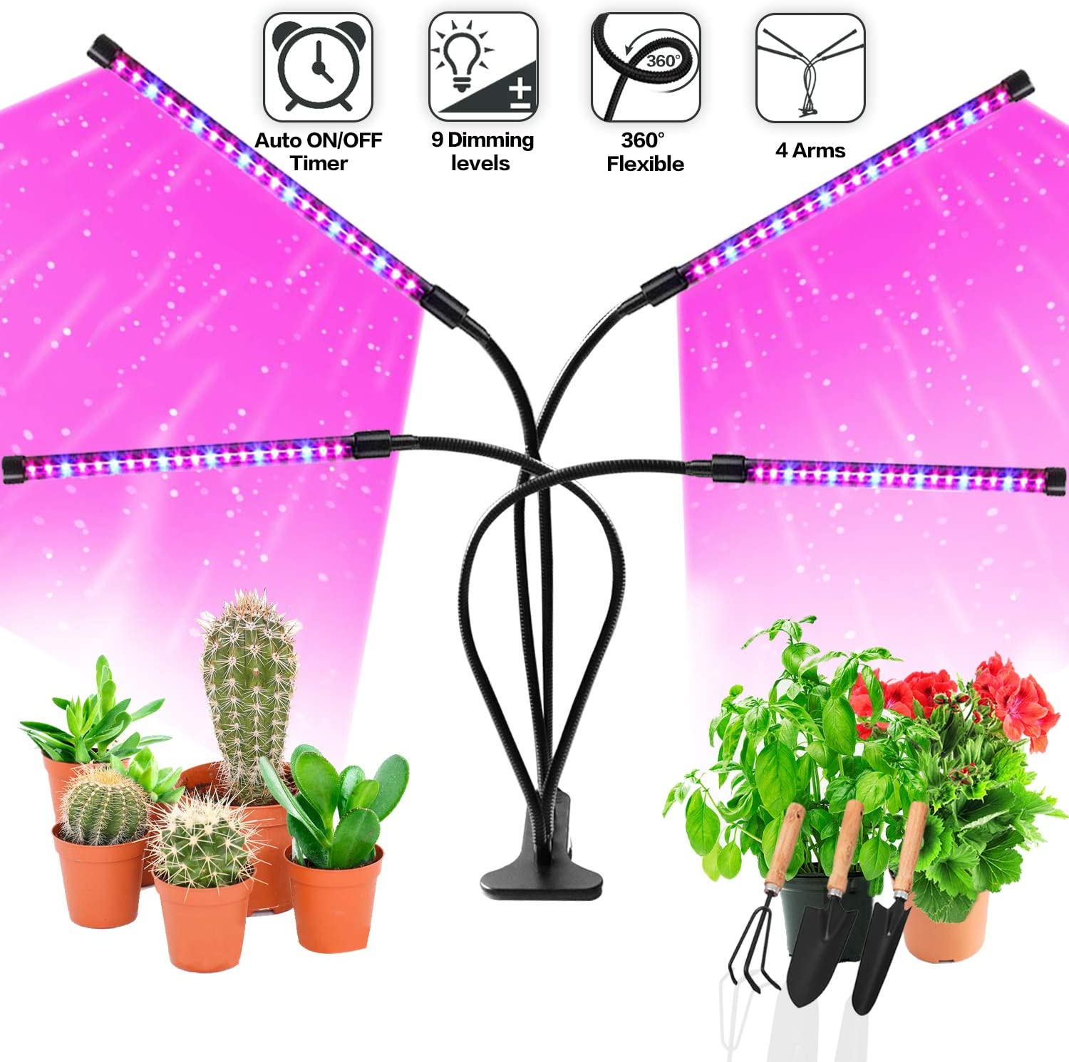 JUEYINGBAILI LED Grow Lights for Indoor Plants