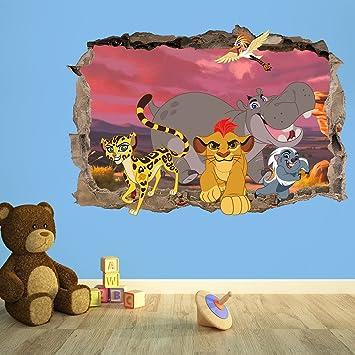 THE LION GUARD 3D KIDS WALL STICKER BEDROOM BOYS GIRLS 100cm W
