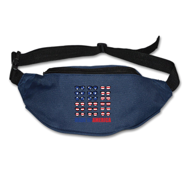 SEVTNY Waist Bag American Glasses Fanny Pack Stealth Travel bum Bags Running Pocket For Men Women
