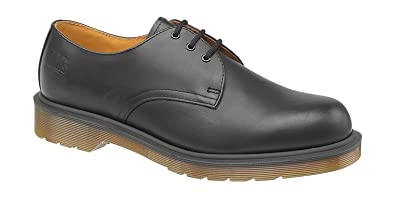 Dr Martens Mens Lace Up Non Safety Leather Shoes B8249 Black