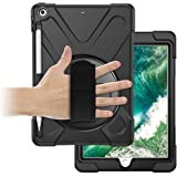 ORIbox Anti-Fall Case for iPad 6th 9.7''(2018) /iPad 5th 9.7''(2017), Hybrid Shockproof Rugged Drop Protection Cover Built wi