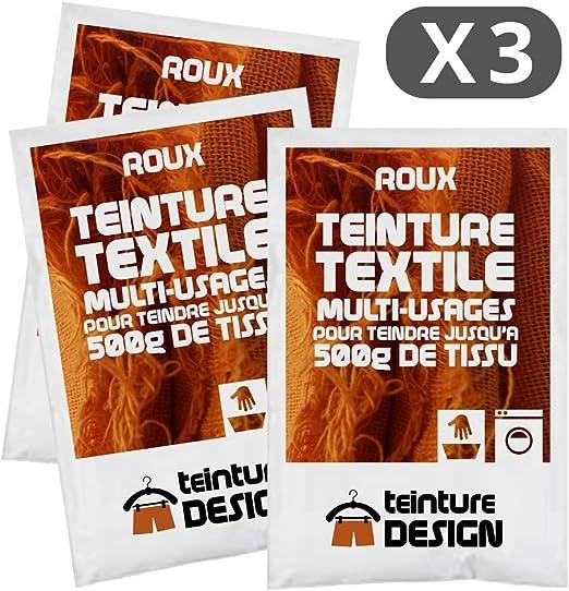 Set de 3 bolsas de tinte textil – Roux – Teintures universales para ropa y telas naturales