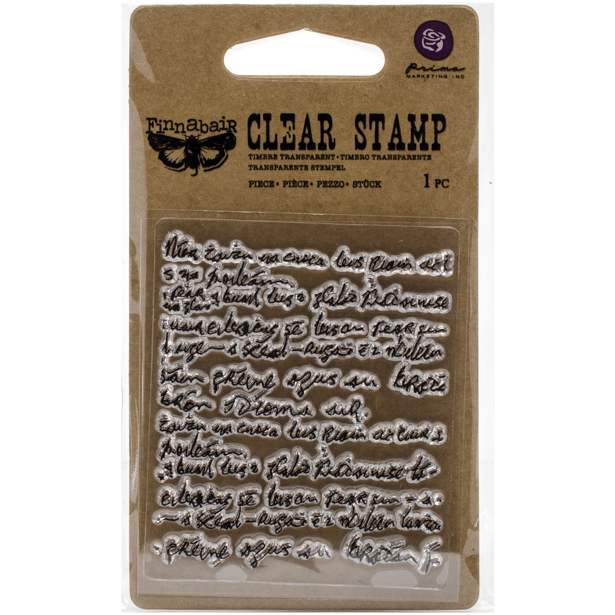 Prima Marketing 961893 Finnabair Clear Stamp 2.5 x 3-Messy