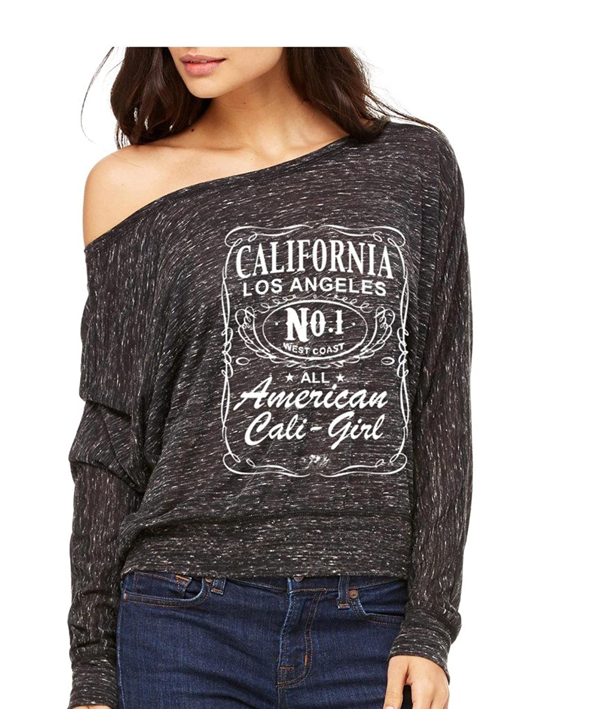 California Republic Bear Long-Sleeve Cali Girls West Coast #1 Flowy Shirt