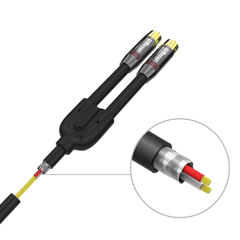 HDGear Premium Cable de Audio con Conectores Dorados: Amazon.es: Electrónica