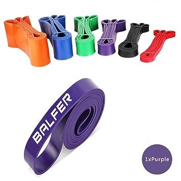 Banda de entrenamiento Balfer de látex prémium para ejercitar, estiramientos,