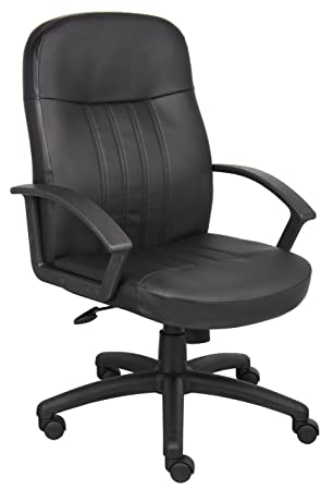 Lovely Amazon.com: Boss Office Products B8106 Executive Leather Budged Chair In  Black: Kitchen U0026 Dining