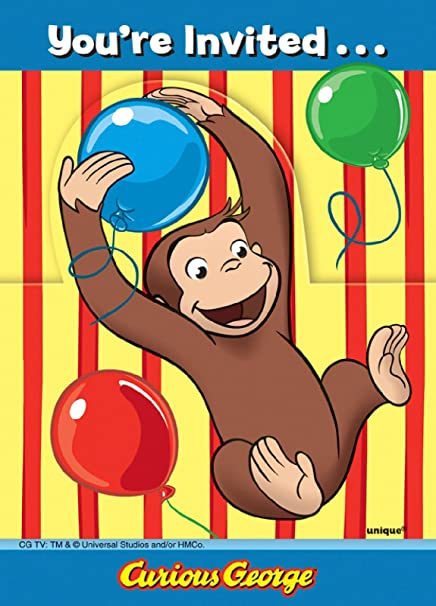 Amazon 8 Curious George Invitations Toys Games
