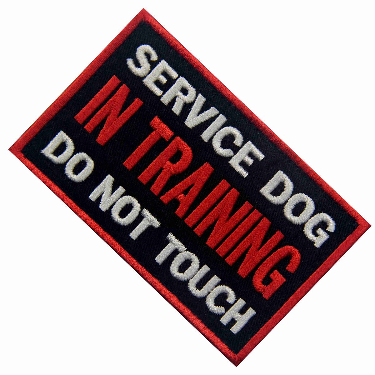 Service Dog Patch Vests//Harnesses Access Required by Law No Exceptions Applique Embroidered Fastener Hook /& Loop Emblem