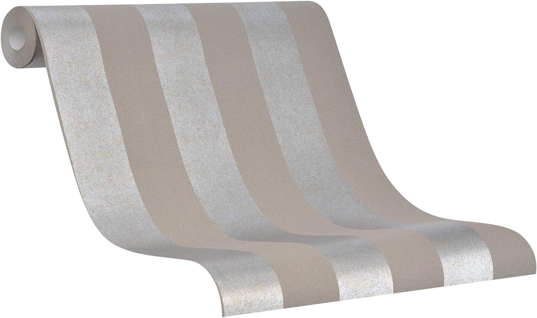 Tapete Vlies Streifen braun silber Metallic La Veneziana 3031328 5,08€//1qm