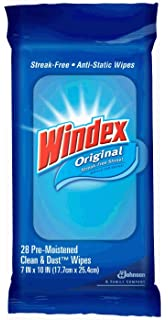Windex Flat Pack Wipes, 28-Count (Pack of 3)