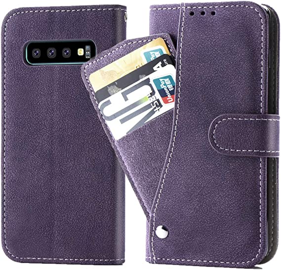 Women Men Girls Purple 2019 Asuwish Galaxy S10 5G Wallet Case,Luxury Leather Phone Cases with Credit Card Holder Slot Stand Kickstand Flip Folio Protective Cover for Samsung Galaxy S10 5G
