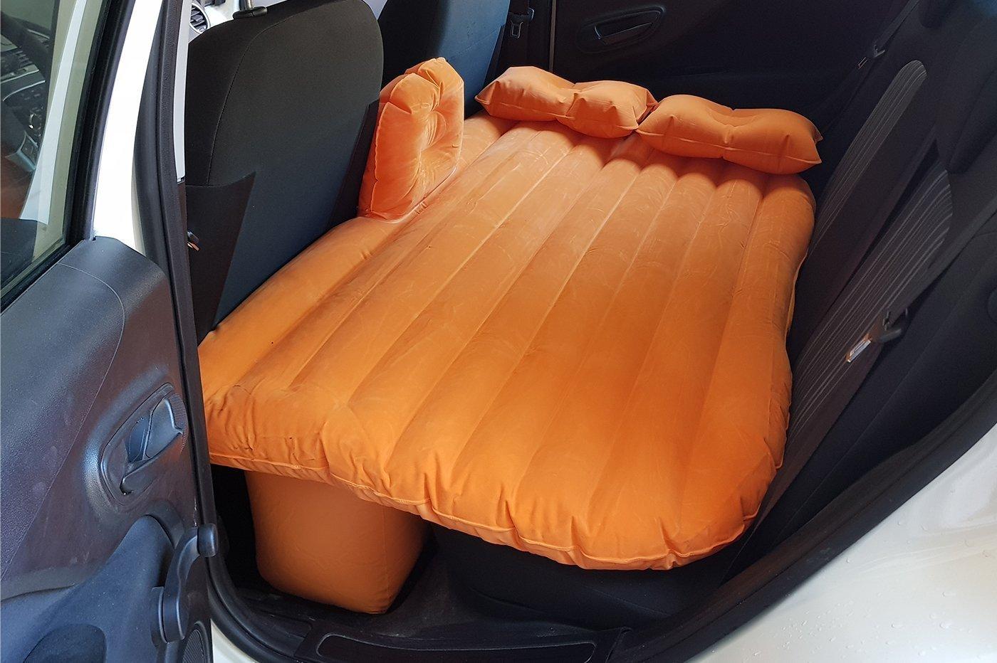 Colchón inflable para coche, para dormir en los asientos traseros, máquina con bomba: Amazon.es: Jardín