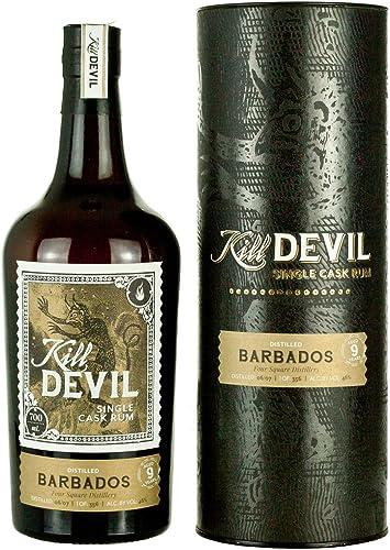 Kill Devil 9 Años de Edad Barbados Solo Barril Ron en Caja de Regalo - 700 ml