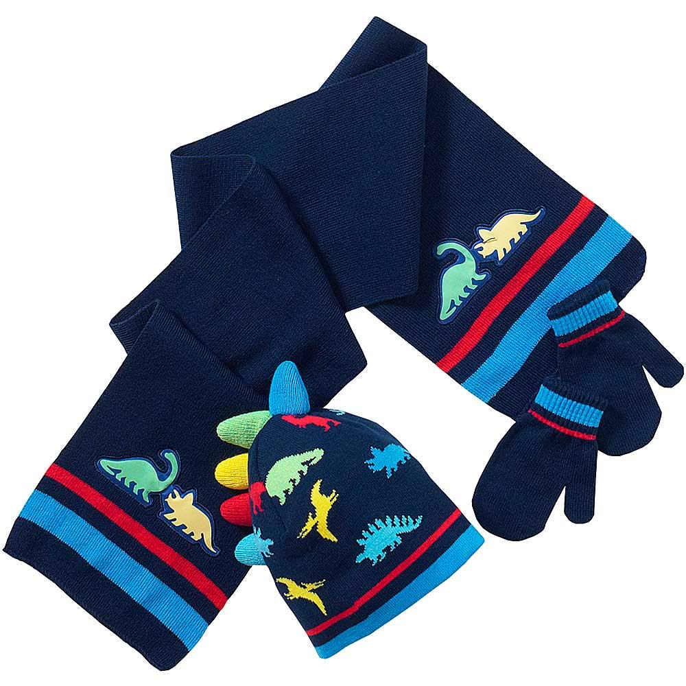 Jurassic World Hat and Gloves Set Boys Winter Set Ages 6-14 Years