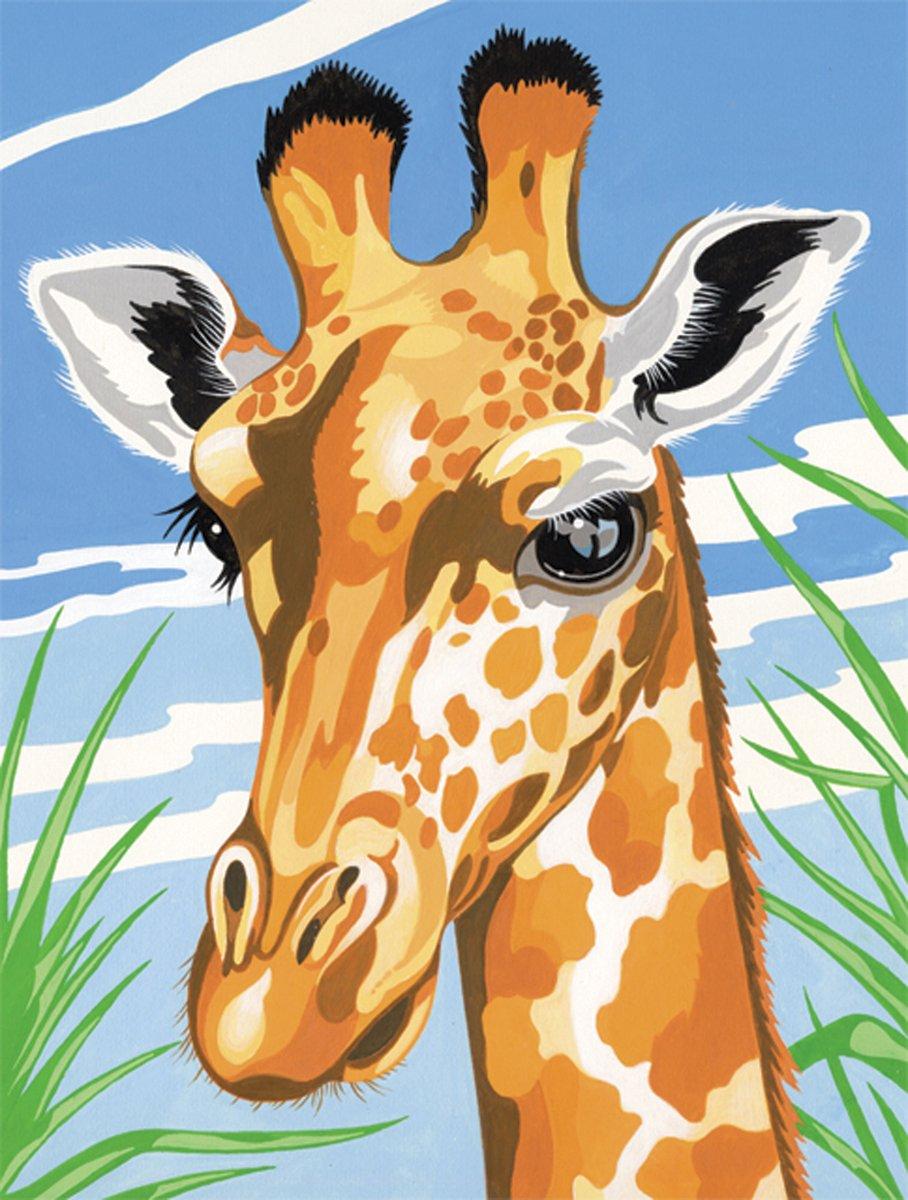 Reeves Malen nach Zahlen 8+Jahre, Tiere 30x23cm, 7 Farben, Motiv ...