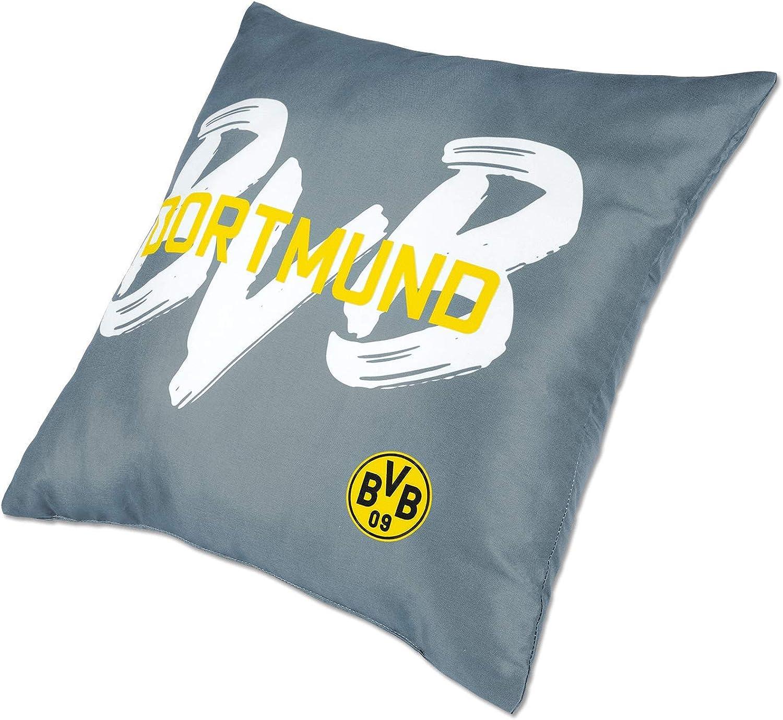 Borussia Dortmund Dekokissen BVB-Kollektion 40x40 cm grau