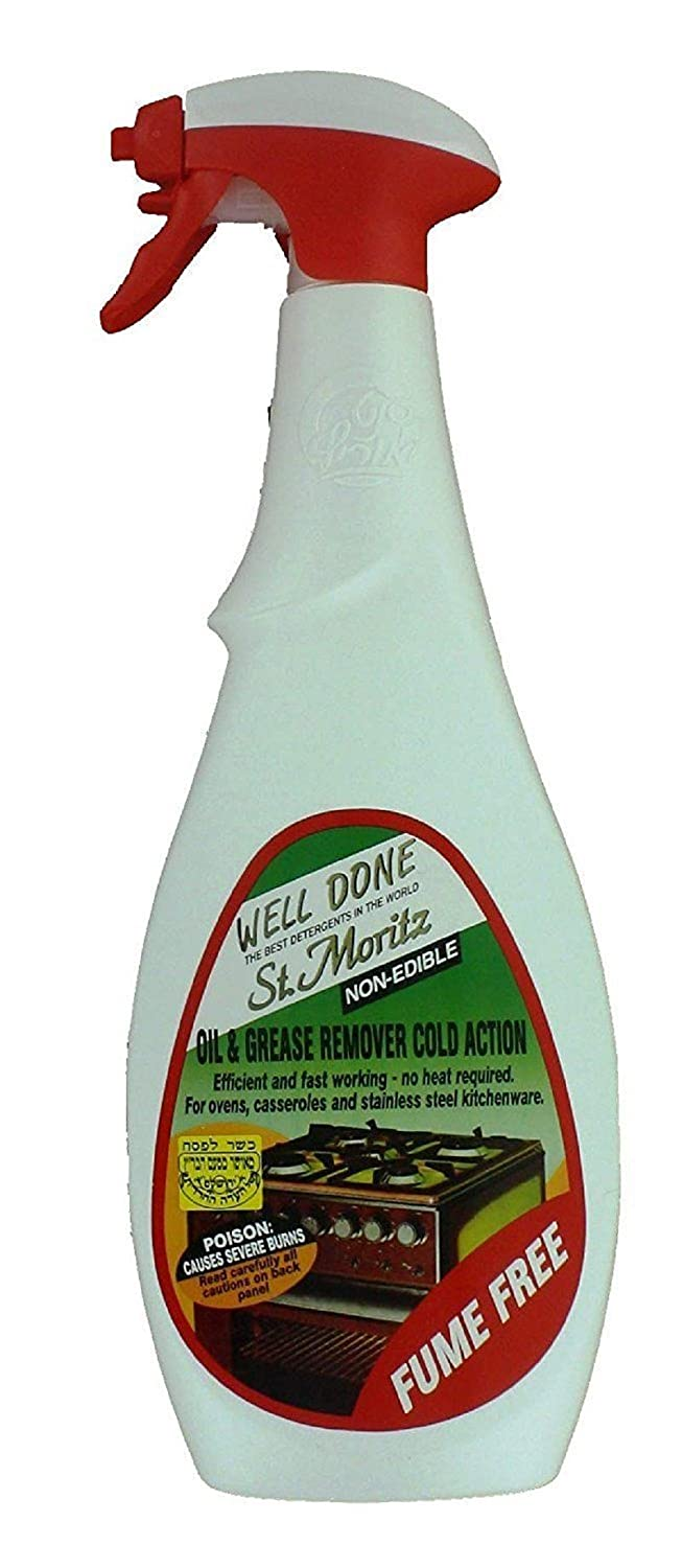 Well Done St. Moritz Oil & Grease Remover Cold Action - Fume Free 27 Oz (750 ml) each - Pack of 4