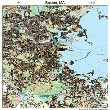 Amazon.com: Image Trader Large Street & Road Map of Boston ... on map boston area towns, jamaica plain boston, massachusetts boston, tourism boston, harvard square boston, things to do in boston, metro map boston, greater boston, fallout boston, towns surrounding boston, subway in boston, downtown boston, map massachusetts, weather boston, world map boston, back bay boston, map ny, lakes in boston, hyatt regency boston, north end boston,