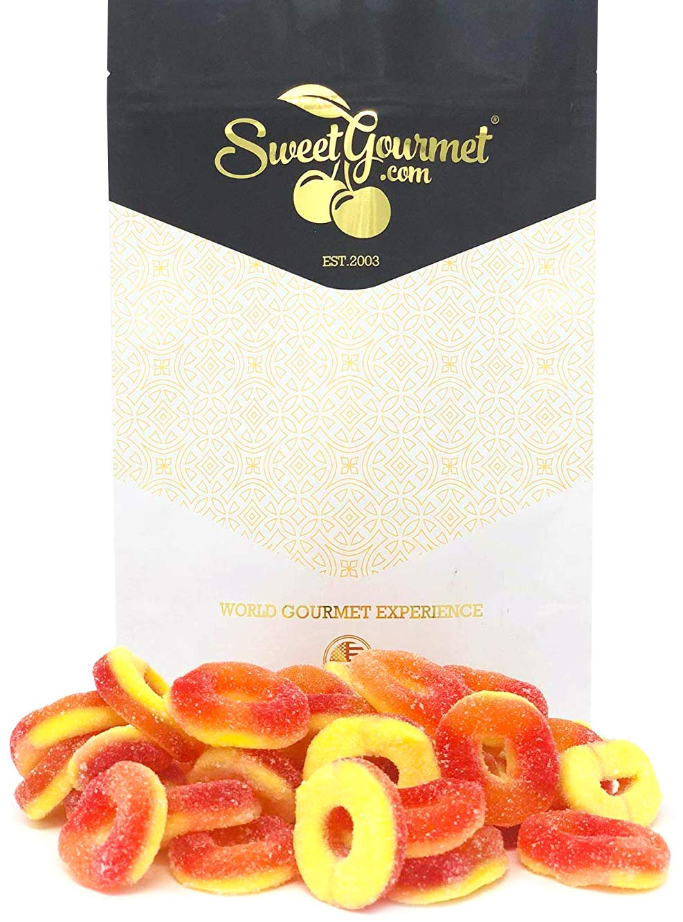Trolli Peachie-O's Gummi - Peach Candy Gummi Rings 1 pound