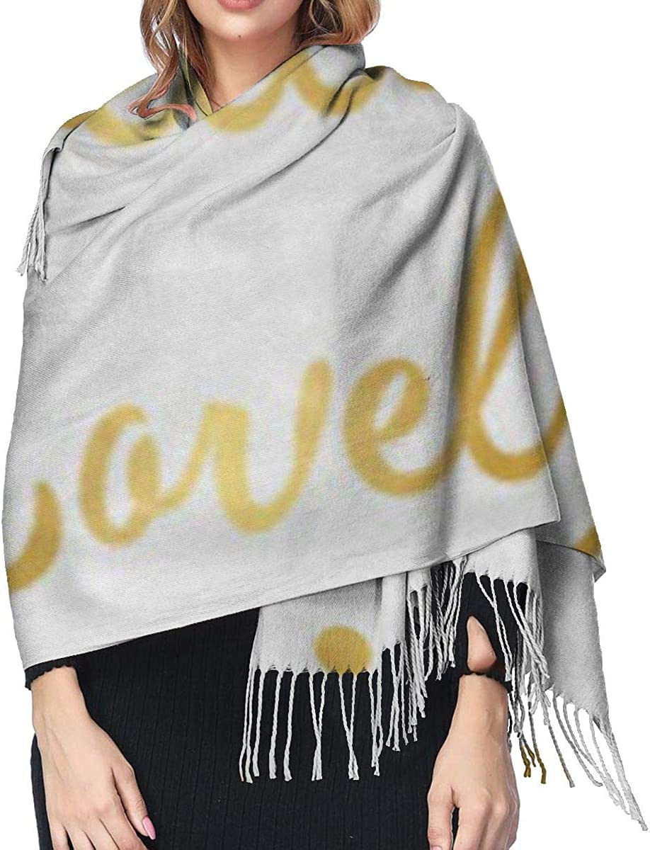 Soft Cashmere Scarf For Women Fashion Lady Shawls,Comfortable Warm Winter Scarfs Green Hello Lovely Gold Wall Party Mint Watercolor Christmas