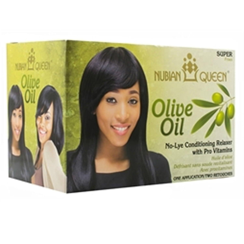 Nubian Queen aceite de oliva pelo acondicionado tumbona con vitaminas no Lye - Super: Amazon.es: Belleza