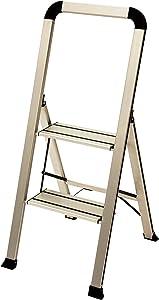 Ascent ADS2-001-SL Series Aluminum 2 Designer Step Stool, Silver