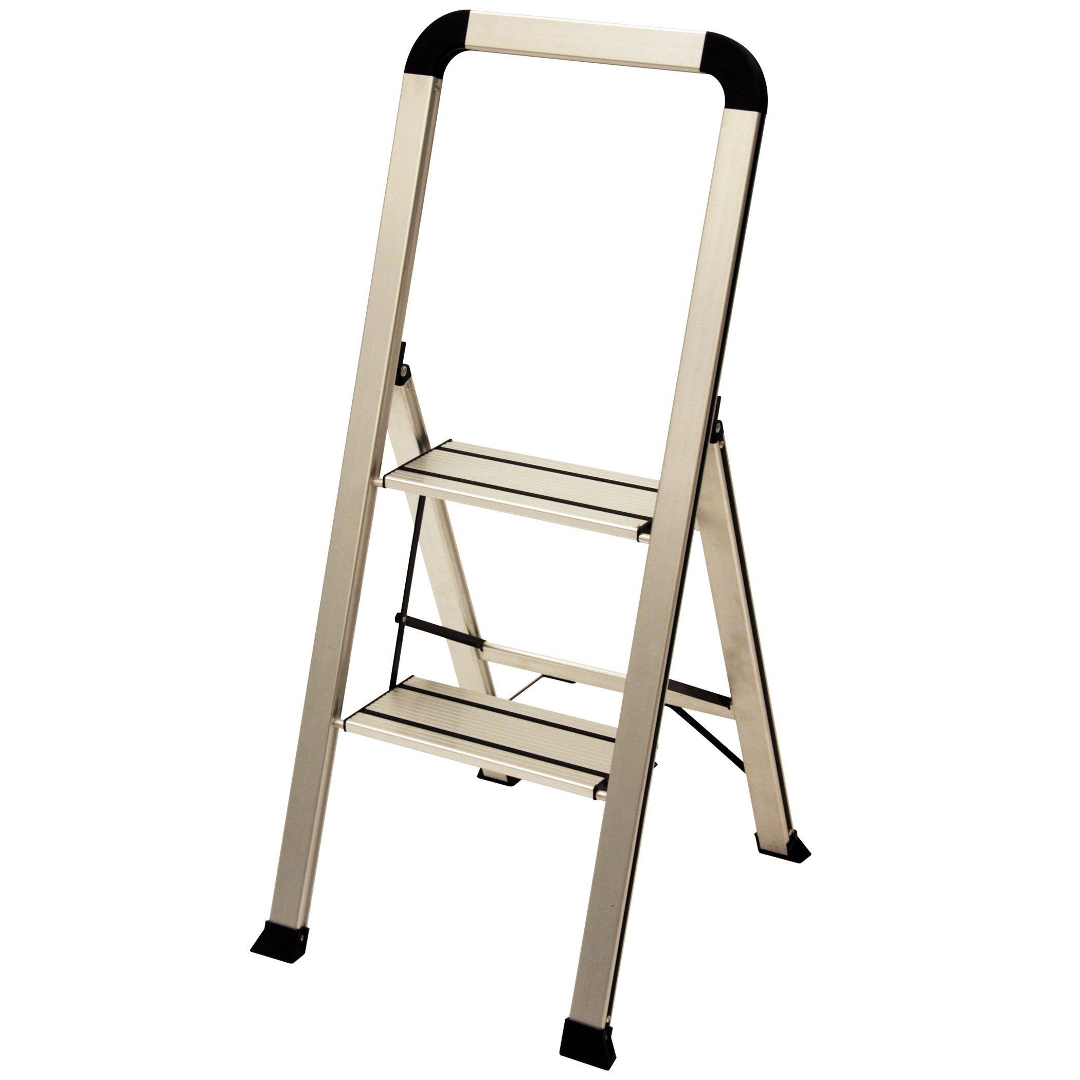Ascent ADS2-001-SL Series Aluminum 2 Designer Step Stool, Silver by Ascent