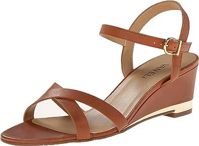 Womens Sandals Vaneli Maryati Tan Bulgaro/Gold Buckle