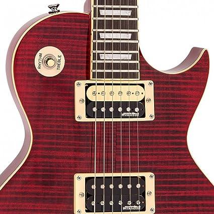 Vintage V100 Reissued Electric Guitar - Flamed Trans Wine Red ...