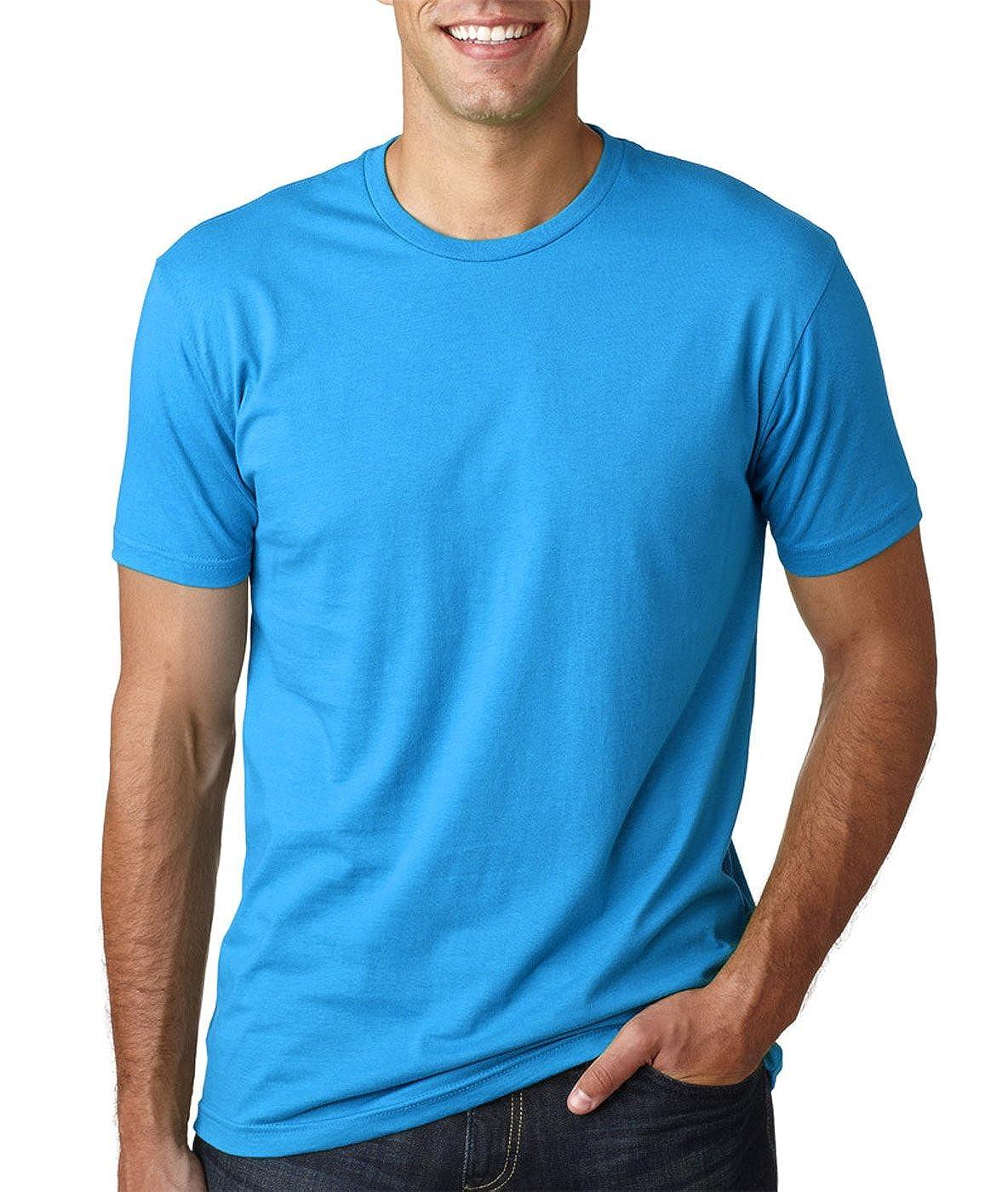 2 Pack Black - XX-Larte Turquoise Next Level Mens Premium Fitted Short-Sleeve Crew T-Shirt