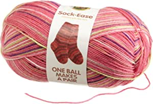 Lion Brand Yarn - Sock Ease. Article 240. Color 205 Cotton Candy. 75% Wool. 25% Nylon