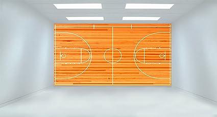 Amazon Com Basketball Court Removable Wallpaper Wall Decor