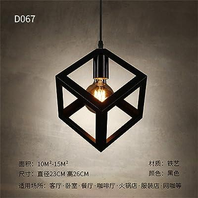 Good quality Luminaire suspendu moderne industriel moderne LED romantique pendentif lumière plafonnier pour La route du corridor de l'escalier industriel petit balcon bar rétro noir 23x26lustres cm