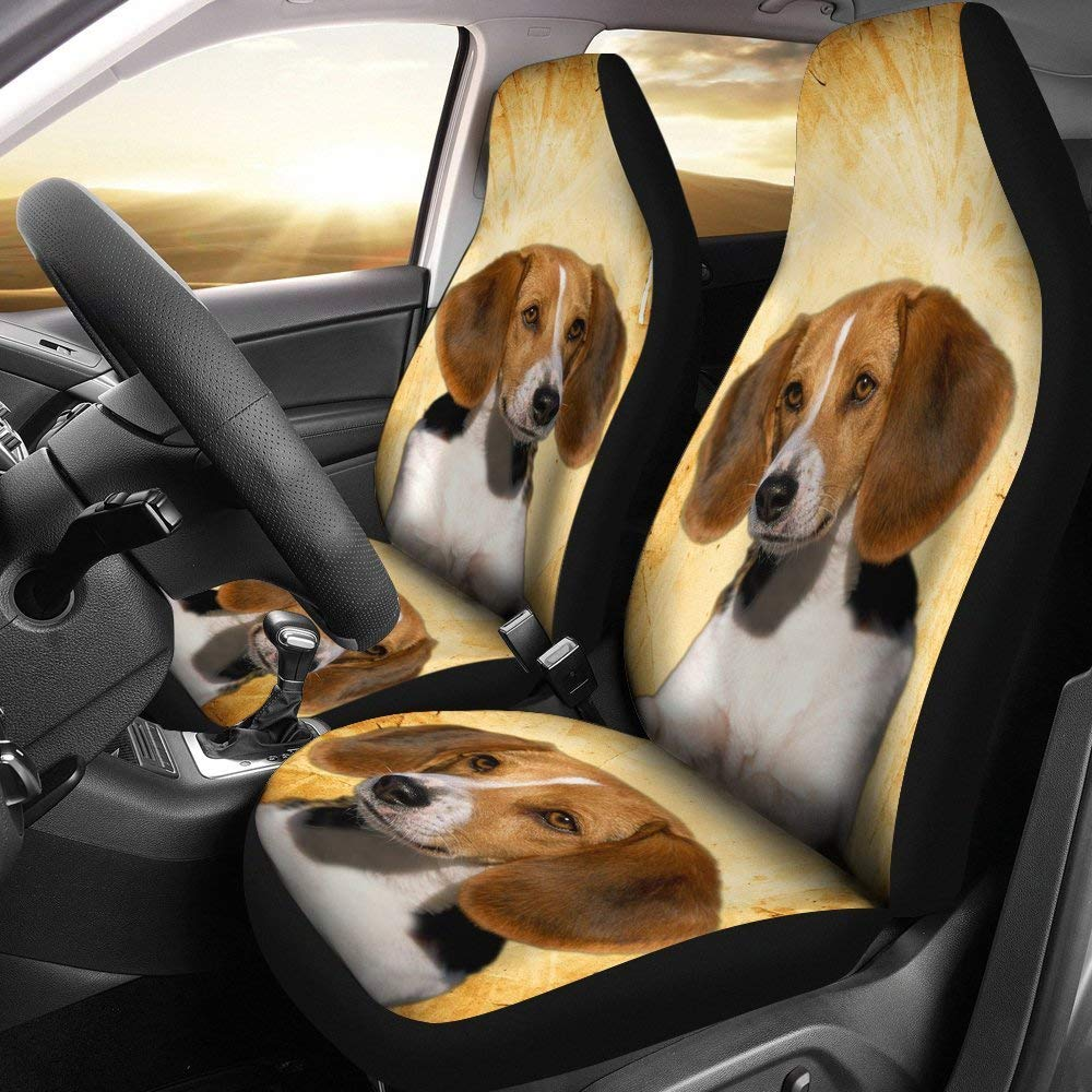 American Foxhound Dog Print Car Seat Covers (Universal Fit)