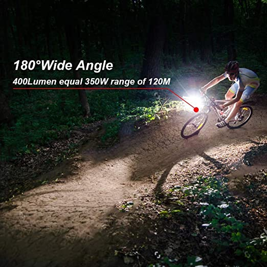 Dewanxin Lampe V/élo LED Lumi/ères Ultra Puissante Eclairage VTT Bike Light Phare VTT Avant Arri/ère Rechargeable USB 5 Modes Impermeable pour V/élo VTT Cycliste Camping Sport Ext/érieur Nocturne
