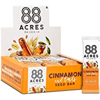 88 Acres Cinnamon & Oats Granola Bar, Gluten-free, Nut-free, Non-GMO, Vegan, School Safe (1.6 Oz, 12 pack)